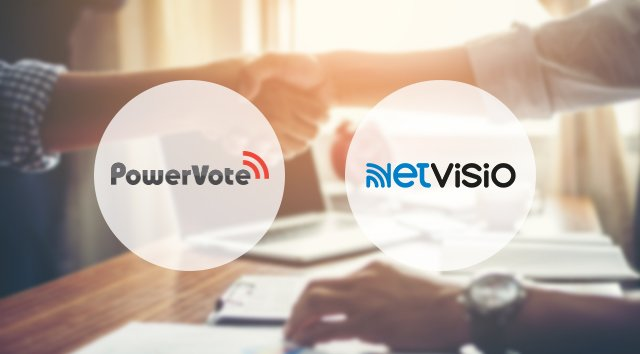 Netvisio & PowerVote s'unissent pour devenir un des leaders de la communication digitale corporate.