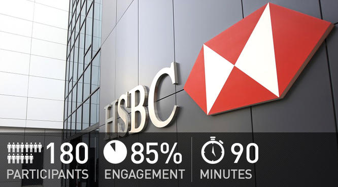 HSBC managers and top executives test their knowledge with voting handsets