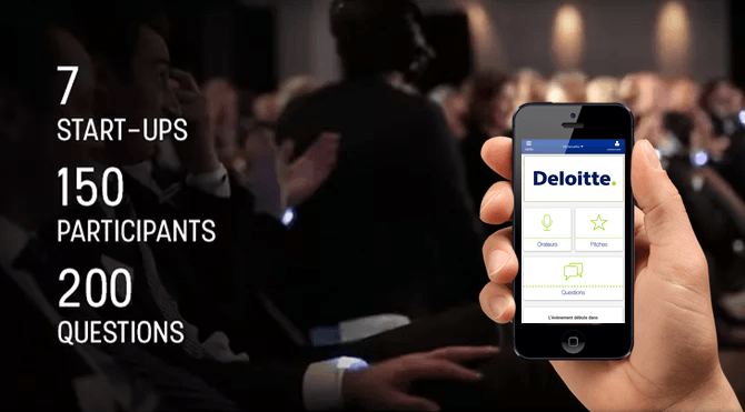 """The Pitch"" un evento Deloitte diventato un successo grazie all'App evento Angage"